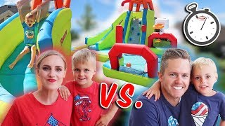SUMMER BACKYARD OBSTACLE COURSE! Family Vs. Family  Who Will Win?!
