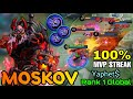 - Insane Outplay Moskov Blood Spear 100% MVP Streak!! - Top 1 Global Moskov by YaphetṨ - MLBB