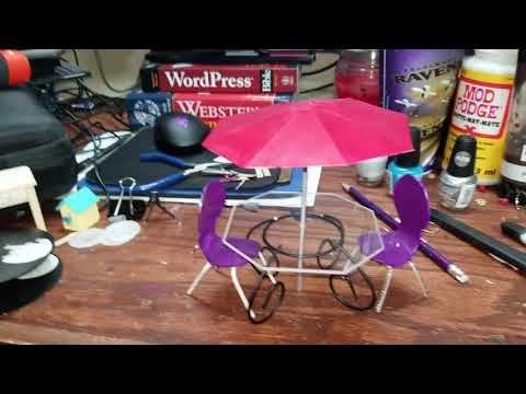 Dollhouse Table - Dollar Tree Furniture DIY