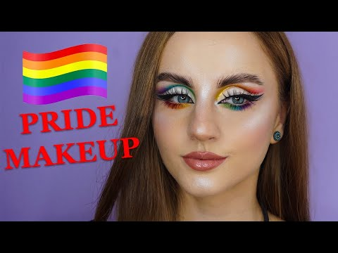 pride rainbow cut crease makeup tutorial 🌈🏳🌈  black