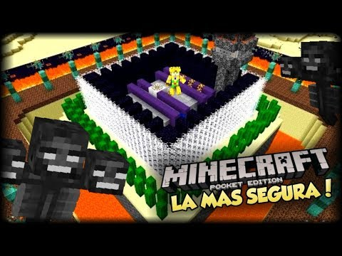 MINECRAFT PE 1.1 - 2 WITHER VS LA CASA MAS SEGURA EN POCKET EDITION - MAPAS CON BLOQUES DE COMANDO