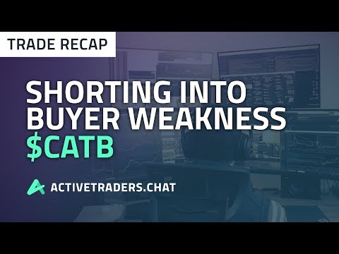 Shorting into Buyer Weakness - Day Trading Recap $CATB (Stock Trading)