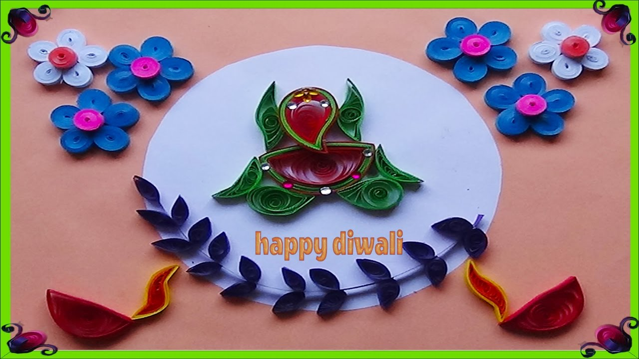 Quilling Card Making Ideas Part - 40: Paper Quilling : How To Make Beautiful God Ganesha \Greeting Card For  Diwali Festival -2017 - YouTube