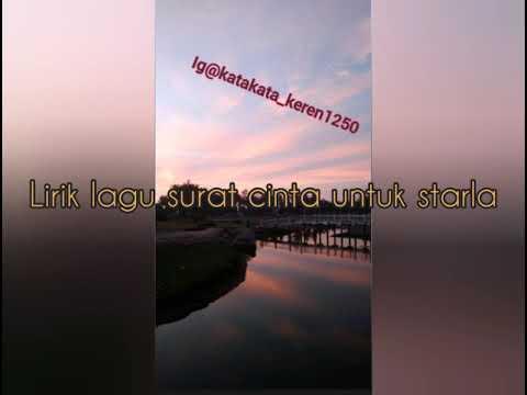 Lirik Lagu Surat Cinta Untuk Starla Film India Youtube
