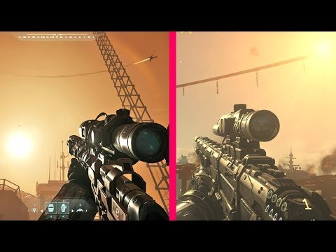 Call of Duty Infinite Warfare vs Advanced Warfare Gun Sounds Comparison