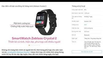 Mở hộp và đánh giá nhanh đồng hồ thông minh zeblaze crystal 2 /unboxing smart watch