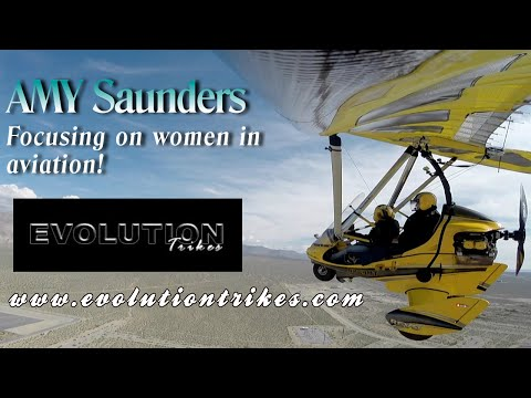 Women in Aviation, Amy Saunders flying the Evolution REVO and REV trikes.