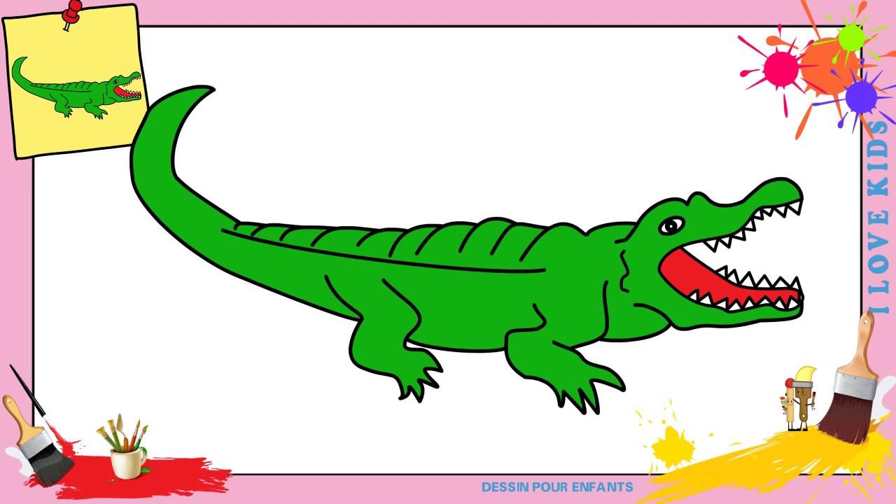 Dessin crocodile facile 2 comment dessiner un crocodile - Image crocodile dessin ...