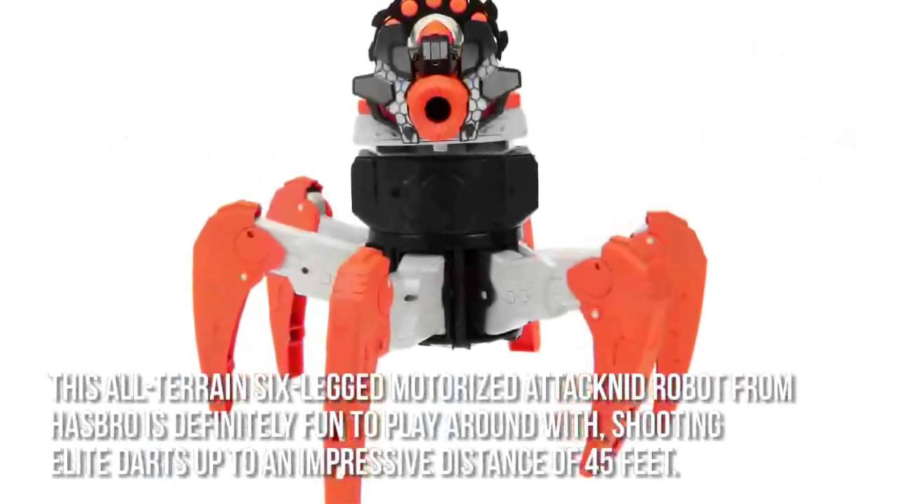 Nerf Toys For Boys : Nerf combat creatures attacknid robot review best xmas