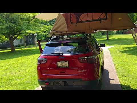 2018 Jeep Compass - Smittybuilt Roof top tent
