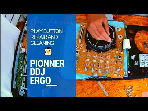 How to repair and cleaning PLAY button for Pionner DDJ Ergo