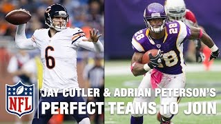 Jay Cutler and Adrian Peterson