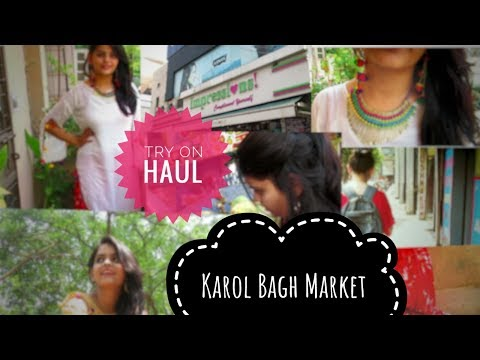 Street Shopping in Karol Bagh and Try On Haul | Eyelashes and Hills | Nimisha Chhabra