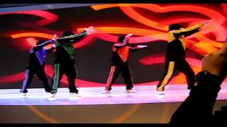 jabbawockeez performance at hisense booth ces 2014