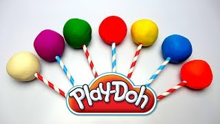 Learn Color Play Doh Molds Lollipops