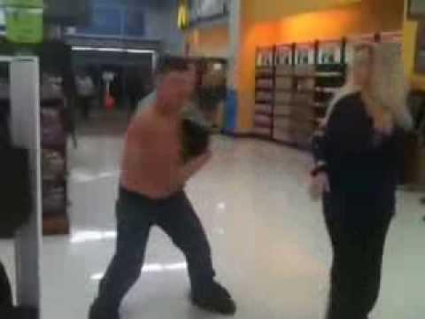 Drunk guy in Coos Bay, OR.Walmart