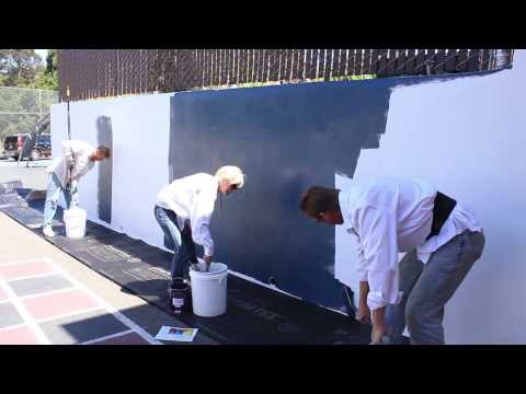 apply a Chalkboard finish over any Cement plaster or concrete wall