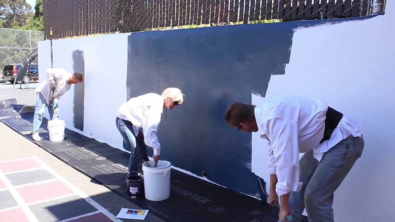 Chalkboard Finish Over Any Cement Or Concrete Wall