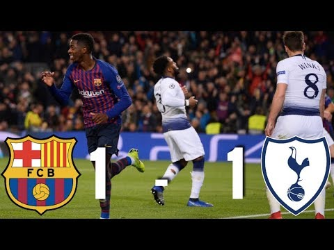 Barcelona vs Tottenham [1-1] - Champions League, Group Stage 2018 - MATCH REVIEW