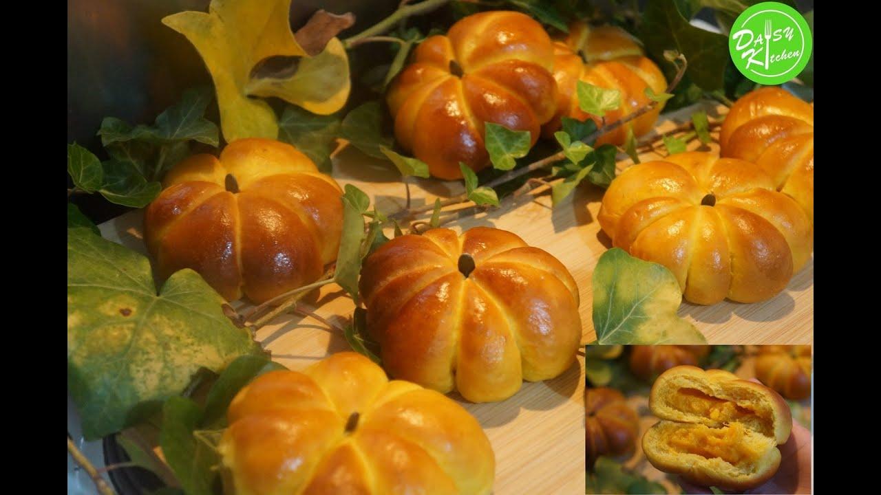 Bánh Mì Bí Đỏ, cách làm bánh  vỏ mềm, xốp, ngon; nhân béo ngậy – Super soft Pumpkin Bread/Bun Recipe