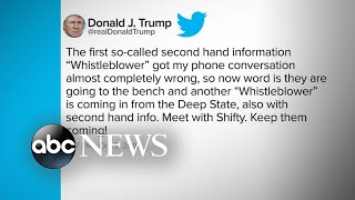 2nd whistleblower has 'firsthand knowledge' on allegations against Trump   ABC News