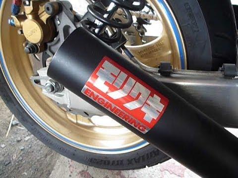 Watch For Motorcycles >> CB400SF モリワキ ショートマフラー 後方から撮影 マフラー排気音 V-TEC SPEC3 - YouTube