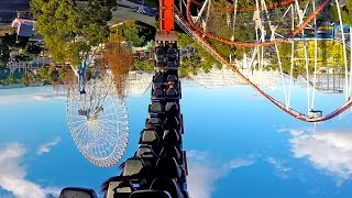 Looping Star Roller Coaster On Ride POV Nagashima Spaland Japan
