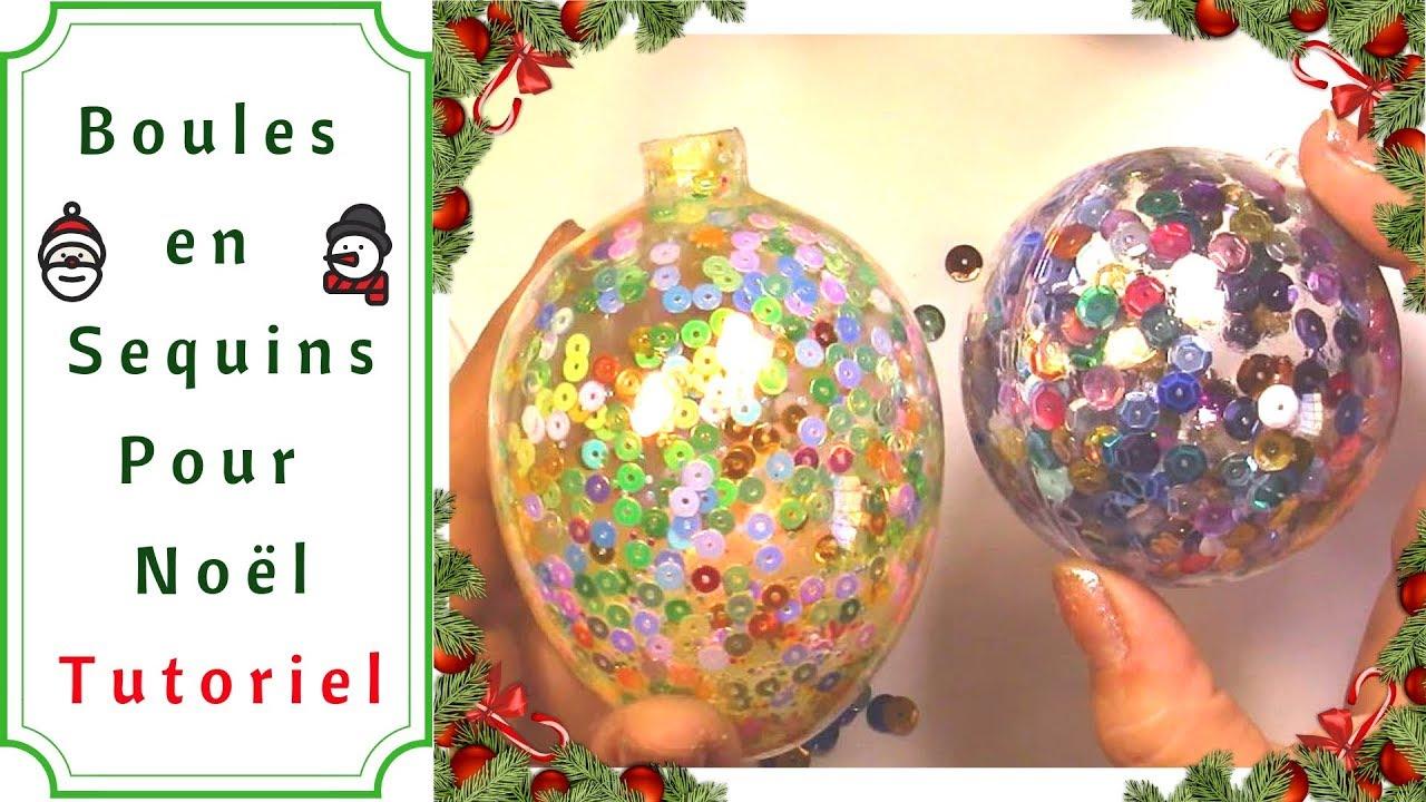 Boule De Noel Transparente A Decorer déco noël : comment faire une boule de sequins : tutoriel ultra facile