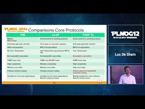 PLNOG12: Next Generation mVPN Deployment Models - Luc De Ghein (Cisco Systems)