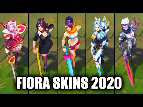 All Fiora Skins Spotlight 2020 (League of Legends)