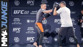 UFC 223: Max Holloway full open workout