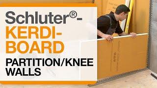 Schluter®-KERDI-BOARD: Partition/Knee Walls
