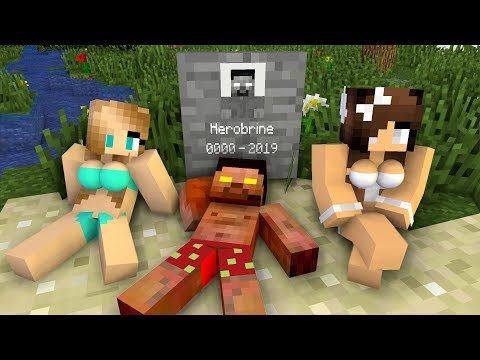 Monster School: RIP Herobrine - Scary Minecraft Animation