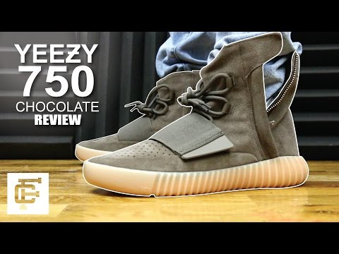 d319763b YEEZY BOOST 750 CHOCOLATE BROWN GUM REVIEW - YouTube