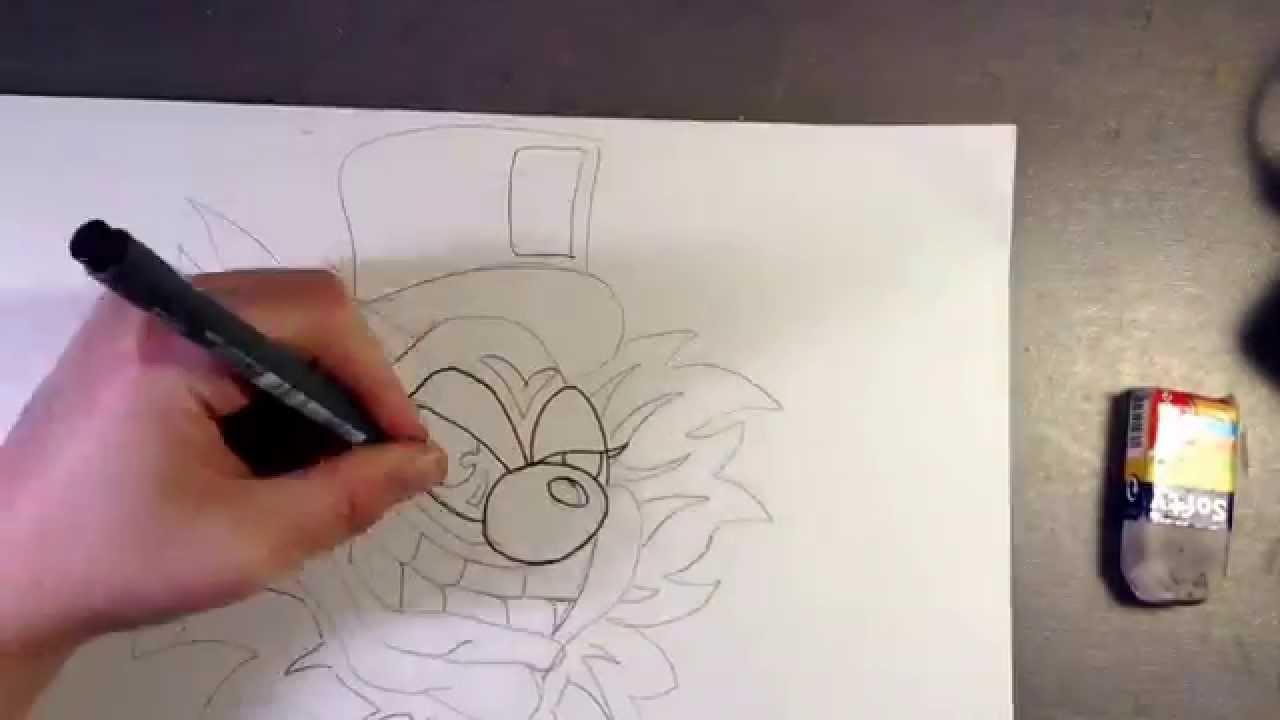 Comment dessiner un clown 1 youtube - Dessiner un clown ...