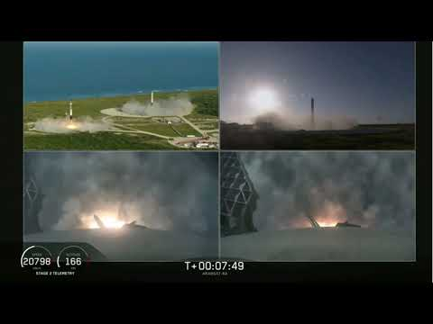 Joe Geis - Awesome Footage of All 3 Falcon Heavy Boosters Landing!