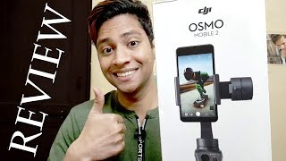 DJI Osmo Mobile 2 Handheld Gimbal Stabilizer for Smartphone Unboxing Review Setup Test