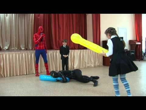 Черный и Красный Человек-паук в гостях у Дани