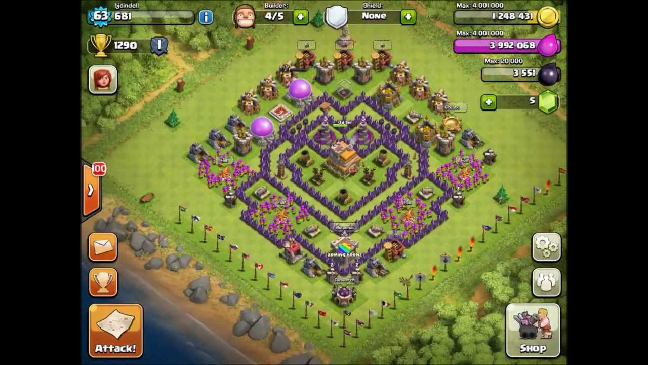 Clash Of Clans - Top 5 Th7 Trophy Bases