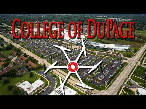 College of Dupage Aerial Campus View - Aerial Vision Chicago