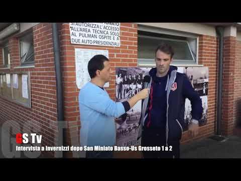 Gs Tv - intervista a Invernizzi dopo San Miniato Basso-Us Grosseto 1 a 2