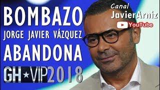 LA REVELACIÓN DE JORGE JAVIER VÁZQUEZ GH*VIP 2018 #Telecinco #Noticias #Televisión #SomosLaAudiencia