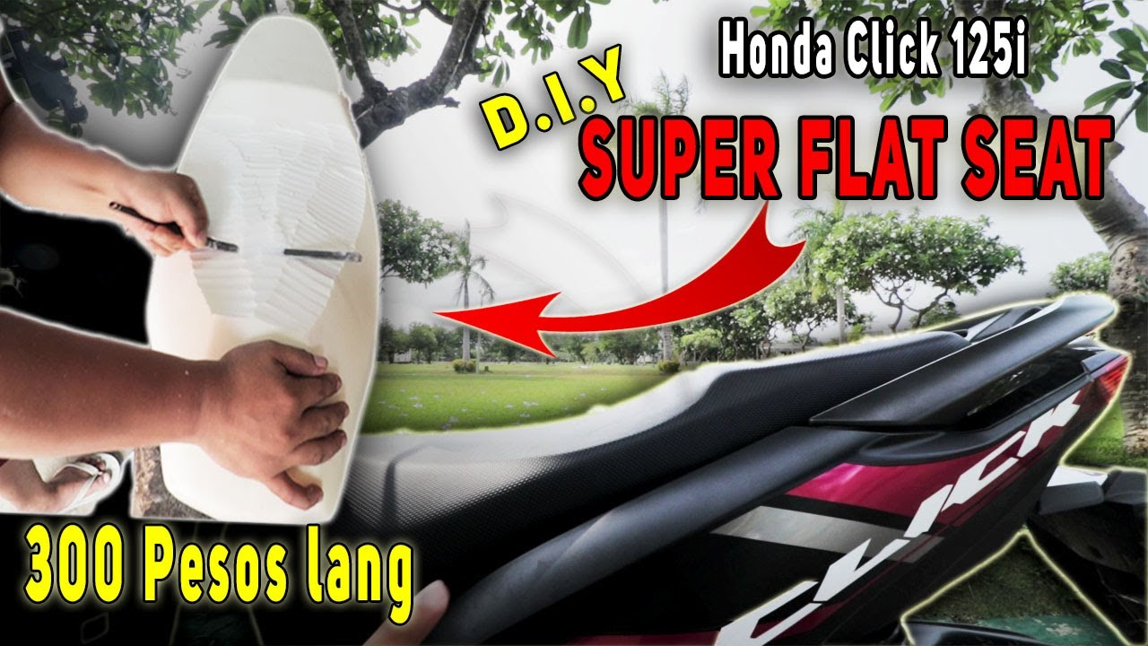 FLAT SEAT INSTALLATION FOR HONDA CLICK 125i GAME CHANGER (Stock Seat ginawang Flat Seat)