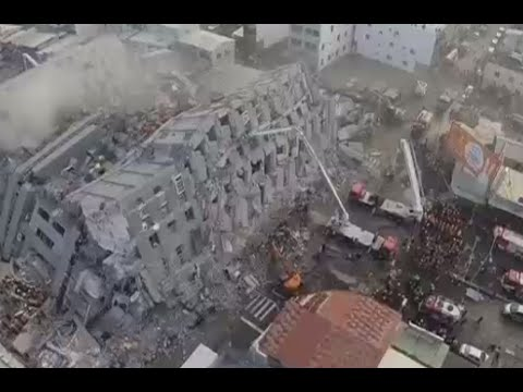 Taiwan quake: Several killed, hundreds rescued from collapsed buildings