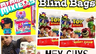 Hey Guys, it's a Toy Story Blind Bags and My Mini Mixieqs Adventure! NEW CHANNEL!