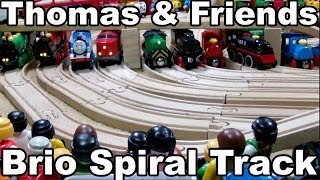 Thomas And Friends - Wooden Train - Brio Wooden Railway System - Spiral Track / Brio Holz Eisenbahn