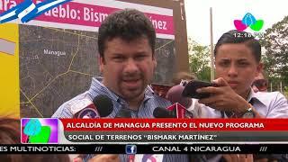 Alcaldía de Managua presentó el nuevo programa social de terrenos