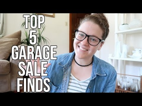 TOP 5   GARAGE SALE FINDS   COLLAB WITH GENTLE THRIFTY MAMA!!!