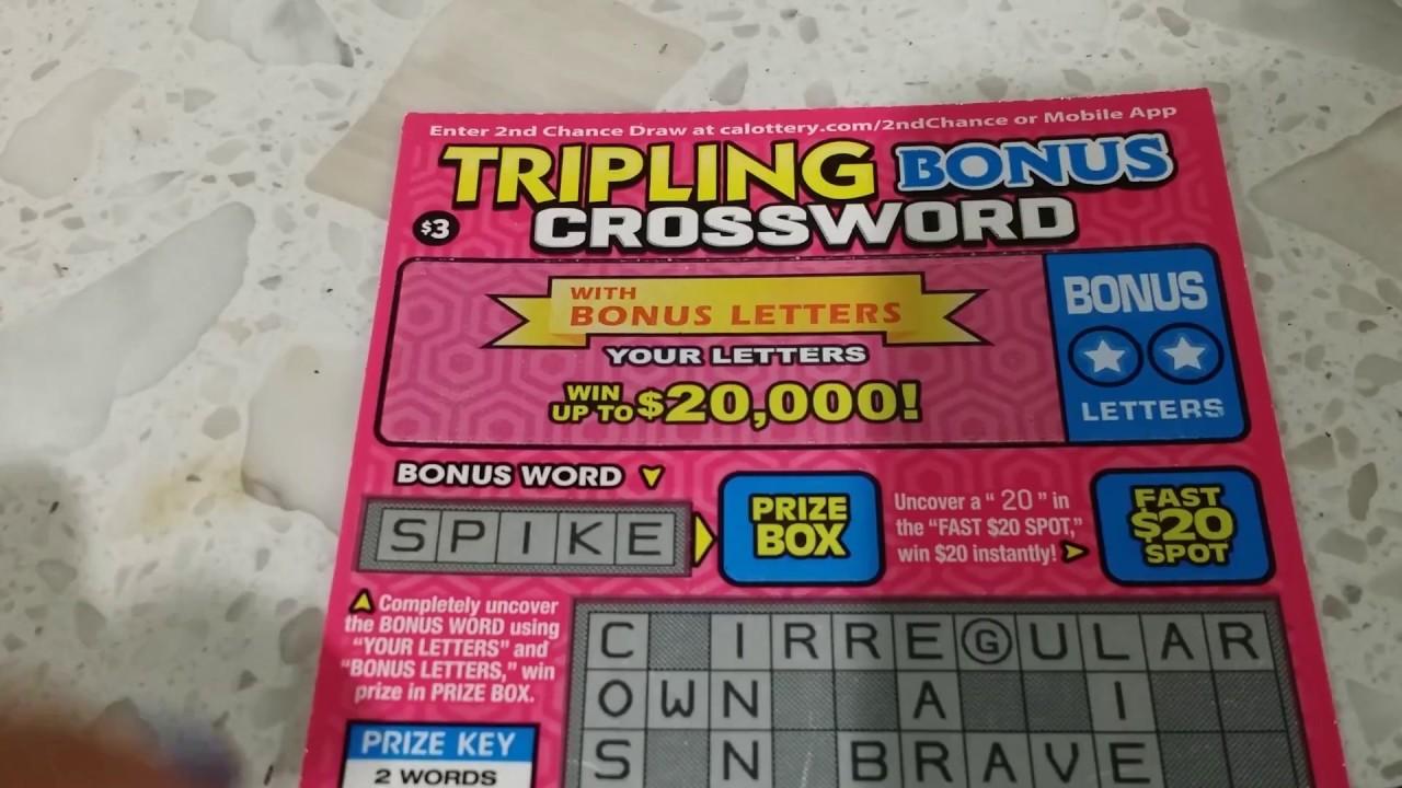 3 crossword tripling bonus crossword california scratcher youtube 3 crossword tripling bonus crossword california scratcher spiritdancerdesigns Images