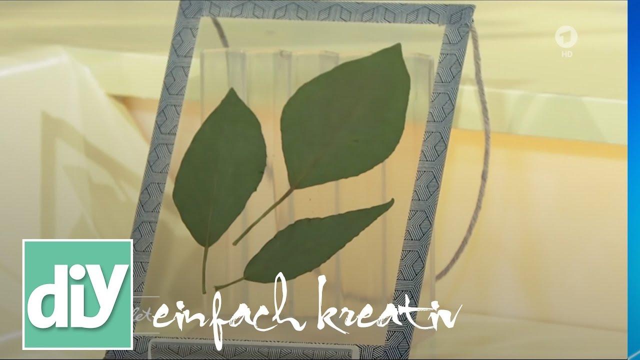 Doppelrahmen mit Blättern | DIY einfach kreativ - YouTube